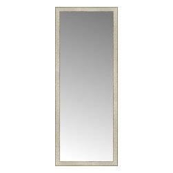 """Posters 2 Prints, LLC - 25"""" x 63"""" Libretto Antique Silver Custom Framed Mirror - 25"""" x 63"""" Custom Framed Mirror made by Posters 2 Prints. Standard glass with unrivaled selection of crafted mirror frames.  Protected with category II safety backing to keep glass fragments together should the mirror be accidentally broken.  Safe arrival guaranteed.  Made in the United States of America"""