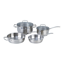 Kevin Dundon HOme - Kevin Dundon Six Piece Stainless Steel Cookware Set - 6 Piece Set Includes: