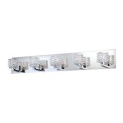 Eurofase Lighting - Eurofase Lighting 25725 Lenza 5 Light Modern Bathroom Vanity Light - Features:
