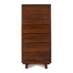 "Teak Me Home - Bennett Tower Dresser - Solid Reclaimed Teak Wood - Depth 20"" Width 25"" Height 53.25"""