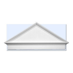 """Inviting Home - Austin Pediment (medium) - entrance pediment 47-1/2""""L x 22-1/2""""H x 2-3/4""""D pitch - 11.4/12 Door pediment is made of high density polyurethane. This material is extremely durable and perfect for exterior application. It is tough dimensionally stable light weight and easy to install using common woodworking tools and adhesive. Adding pediments to your home entrance will enhance any new construction renovation or decoration project making a distinctive impression. Each entrance door pediment is reproduced from classic historical designs. Door pediment come primed white ready for painting."""