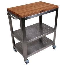 John Boos Cucina Americana Culinarte Kitchen Cart with Butcher Block Top | Wayfa