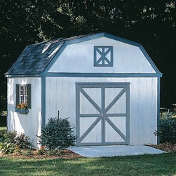 Handy Home Sequoia Storage Shed - 12 x 12 ft. - If any of the folks with one of those vacuum-molded Tupper-sheds in their backyards knew about the Handy Home Sequoia Storage Shed - 12 x 12 ft. , do you think they'd have chosen differently? It's not hard to imagine what you could do with the 1444 cubic feet of storage space inside the attractive, solid-wood body of this versatile shed. 7-foot high side walls surround a peak of 11.6 feet, giving you all the storage you'll need for your outdoor gear. A wide, pre-hung door with a 64W x 72H-inch opening can be located on any of the four exterior walls for maximum convenience. The exterior is pre-primed at the factory and ready to paint, and all the necessary instructions and hardware are included. This shed is also available with or without a floor as necessary. About Handy HomeSince 1978, Handy Home has been making it easy and affordable for their customers to add storage sheds, gazebos and playhouses to their homes. As North America's largest producer of wooden storage and recreational building kits, Handy Home makes durable structures that require no sawing or drilling and can be delivered when and where their customers need them.
