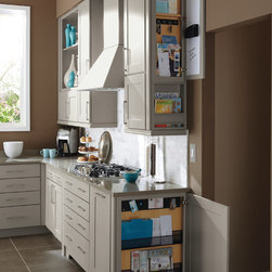 Kemper Wall & Base Message Centers - Both wall and base message centers can be the perfect way to end a cabinet run, and keep up with everyone's hectic schedule.