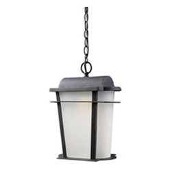 Elk Lighting - Elk Lighting Hampton Ridge Transitional LED Outdoor Hanging Light X-1/70034 - Decorate your space with something sleek and simple, like this Elk Lighting Hampton Ridge transitional LED outdoor hanging light. The cast aluminum frame has a simple yet eye-catching design, and is finished in a beautiful, weathered charcoal. The curved, frosted glass is sure to diffuse light softly and pleasantly in any outdoor environment.