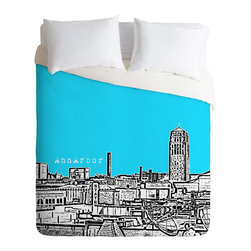 DENY Designs - Bird Ave Ann Arbor Sky Duvet Cover - Turn your basic, boring down comforter into the super stylish focal point of your bedroom. Our Luxe Duvet is made from a heavy-weight luxurious woven polyester with a 50% cotton/50% polyester cream bottom. It also includes a hidden zipper with interior corner ties to secure your comforter. it's comfy, fade-resistant, and custom printed for each and every customer.