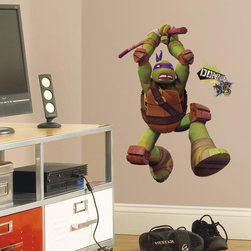 Roommates Decor - Teenage Mutant Ninja Turtles Don Giant Peel & Stick Wall Decals - Bring the ultra intelligent Donnie to the walls of any Teenage Mutant Ninja Turtles fan with this giant wall decal. This huge wall graphic of Donatello is easy to apply, remove, and reposition. It sticks firmly to any smooth surface, and can be safely removed and reused without damage or sticky residue. A great pick for TMNT fans of any age!