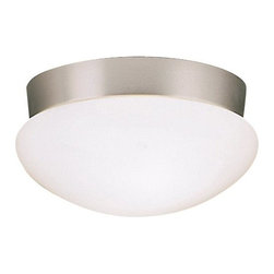 BUILDER - KICHLER 8102NIFL Energy Efficient Flush Mount Ceiling Light - Fixture requires supply wire rated for at lest 75° C.