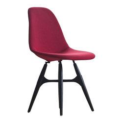 Kubikoff - ZigZag Pop Chair, Wrinkled Black Leather, Black Metal Cross, Stained Black Wood - ZigZag Pop Chair