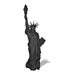 Amedeo Design, LLC - USA - Statue of Liberty Statue - Our Statue of Liberty is truly unique and has tremendous versatility inside or out. Being made from ResinStone, it is also easily moved to different locations, yet by looking at it you would think it is made from stone. Our products are made of lightweight weatherproof ResinStone. So authentic, you actually have to lift them to convince yourself they're not stone at all! Made in USA.