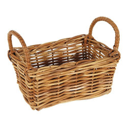 Eco Displayware - Small Rectangular Rattan Storage Basket Box i - Great for closet, bath, pantry, office or toy and game storage. Earth friendly. 10 in. L x 7 in. W x 8 in. H (2.04 lbs.)These natural colored baskets add warmth and charm and keep you organized.