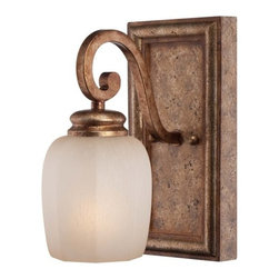 Minka Lavery - Minka Lavery 5471-562 1 Light Bathroom Sconce from the Cornerstone Collection - Single Light Bathroom Sconce from the Cornerstone CollectionFeatures: