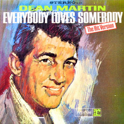 "Adonis Collection - Adonis Collection | Framed Album, Crooners - Dean Martin, ""Everybody Loves Somebody,"" framed album artwork. Released in 1964 by Reprise Records. Cover art is uncredited, by or after Jim Jonson."
