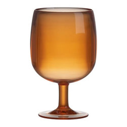 Stacking Orange Acrylic Wine Glass - An absolute essential for the patio: unbreakable acrylic wine glasses. I love the warm orange color of these, reminiscent of a summer sunset.