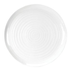Portmeirion - Sophie Conran White Round Platter - 422209 - Shop for Plates and Dishes from Hayneedle.com! Serve up something they'll talk about for days to come on the Sophie Conran White Round Platter. Crafted of durable porcelain this platter is freezer- microwave- oven- and dishwasher-safe. It's perfect for dinner parties and family dinners and also makes a great gift.About PortmeirionStrikingly beautiful eminently practical refreshingly affordable. These are the enduring values bequeathed to Portmeirion by its legendary co-founder and designer Susan Williams-Ellis. Her father architect Sir Clough Williams-Ellis was the designer of Portmeirion the North Wales village whose fanciful architecture has drawn tourists and artists from around the world (including the creators of the classic 1960s TV show The Prisoner). Inspired by her fine arts training and creation of ceramic gifts for the village's gift shop Susan Williams-Ellis (along with her husband Euan Cooper-Willis) founded Portmeirion Pottery in 1960. After 50+ years of innovation the Portmeirion Group is not only an icon of British design but also a testament to the extraordinarily creative life of Susan Williams-Ellis.The style of Portmeirion dinnerware and serveware is marked by a passion for both pottery manufacturing and trend-setting design. Beautiful tactile nature-inspired patterns are a defining quality of Portmeirion housewares from its world-renowned botanical designs modeled on antiquarian books to the breezy natural colors of its porcelain and earthenware. Today the Portmeirion Group's design legacy continues to evolve through iconic brands such as Spode the Pomona Classics collection and the award-winning collaboration of Sophie Conran for Portmeirion. Sophie Conran for Portmeirion:Successful collaborations have provided design inspiration throughout Sophie Conran's life. Her father designer Sir Terence Conran and mother food writer Caroline Conran have been the pillars of her eclectic mix of coo