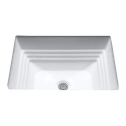 "Toto - Toto LT533 Colonial White Promenade Undercounter Lavatory - The Toto LT533#11 is a rectangular undermount lavatory, with a traditional design, part of the promenade suite from Toto USA. The Toto LT533#11 measures 20 1/2"" x 16 1/2"", and comes in colonial white finish"