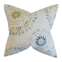 "The Pillow Collection - Hali Geometric Pillow 18"" x 18"" - Set a cool and relaxing vibe to your interiors with this accent pillow."