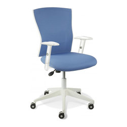 Jesper Office Furniture - Sanne Blue Office Chair - Features:
