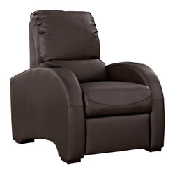 Coach Recliner - Win one for the home team with a recliner fit for a king. Stretch out in the generously sized seat and extra-padded back while you enjoy your favorite pastimes. Kick back and relax as you drink your favorite beverage, read a good book, watch the ball game, or simply take it easy.