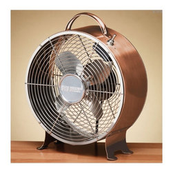 Shiny Copper Vintage-Style Metal Table Fan - I want to do everything I can to make sure my guests are comfortable! This fan could provide white noise or just enough of a breeze to fall asleep. Plus, I absolutely love the copper exterior.