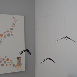 Swallow Mobile - Hang this mobile over your bed or sofa to recall the elegant flight and clever aerobatics of the swallow.