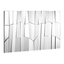 ZUO PURE - Glacier Mirror Clear - With its many facets and angles, these chic mirrors are handcrafted with a solid back and dual wires for multiple hanging positions