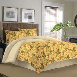 Tommy Bahama - Tommy Bahama Key Largo Place Coral Cotton Duvet Cover Set - In vibrant colors,this Tommy Bahama duvet set is sure to accentuate any room. Made from 100 percent cotton,this cover is as comfortable as it is beautiful.