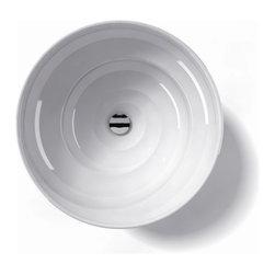 "WS Bath Collections - LVO 700 Vessel Sink 17.9"" - Ceramica by WS Bath Collections 17.9 � x 6.3 Above The Counter Bathroom Sink/ Washbasin in ceramic white"