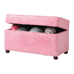 "Coaster - Storage Bench (Pink) By Coaster - Dimensions: Width: 32.25"" x Depth: 16.125"" x Height: 18"""