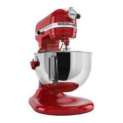 KitchenAid - KitchenAid RKV25G0XER Empire Red 5-quart Pro 5 Plus Bowl-Lift Stand Mixer (Refur - A Powerknead dough hook, flat beater and stainless steel wire whip make for professional food preparation in this mixer from KitchenAid. This five-quart mixer also has a multipurpose attachment hub with a hinged hub cover.