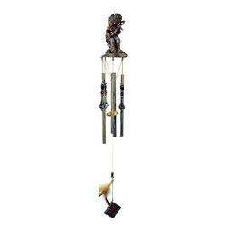 Great World - 32 Inch Small Indian Warrior with Sword Themed Poly Resin Wind Chime - This gorgeous 32 Inch Small Indian Warrior with Sword Themed Poly Resin Wind Chime has the finest details and highest quality you will find anywhere! 32 Inch Small Indian Warrior with Sword Themed Poly Resin Wind Chime is truly remarkable.