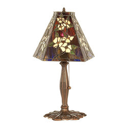 "Meyda Lighting - Meyda Lighting 81619 18.5""H Oriental Peony Accent Lamp - Meyda Lighting 81619 18.5""H Oriental Peony Accent Lamp"