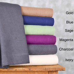 None - Winter Nights Cotton Flannel Sheet Set - For supreme warmth and comfort, these cotton flannel sheets are a perfect fit. The set is available in six solid colors, making them easy to match with your existing decor. A flat sheet, fitted sheet, and two pillowcases are included.