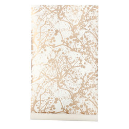 Golden Forest Wallpaper - Maybe this season you don't have a lot of time to get outdoors. So transform your walls into mother nature with this sparkly, wilderness wallpaper.