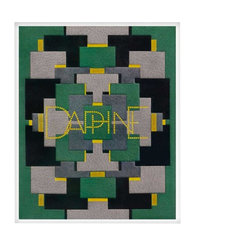 """Daphne, Small, Unframed - This print is of Pierre Legrain's Art Deco cover design for the book """"Daphne"""" originally documented circa 1925 Paris, France. It is a wonderfully poetic scape of geometric patterns. Pierre Legrain's designs are almost always abstract and linear, with the letters of his book titles often serving as ornamental motif. Legrain employed leather as well as unexpected materials with unusual tones with great success."""