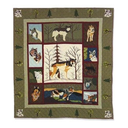 Patch Magic - Call Of The Wild Throw - 50 in. W x 60 in. L. 100% Cotton. Handmade, hand quilted. Machine washable. Line or flat dry only