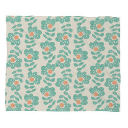 DENY Designs - Wendy Kendall Lovisa Aqua Fleece Throw Blanket - This DENY fleece throw blanket may be the softest blanket ever! And we're not being overly dramatic here. In addition to being incredibly snuggly with it's plush fleece material, it's maching washable with no image fading. Plus, it comes in three different sizes: 80x60 (big enough for two), 60x50 (the fan favorite) and the 40x30. With all of these great features, we've found the perfect fleece blanket and an original gift! Full color front with white back. Custom printed in the USA for every order.