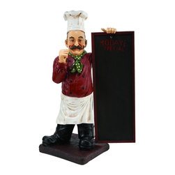Benzara - 36in. High Polystone Chef Chalkboard For Limited Edition - Polystone Chef Chalkboard is an excellent anytime low priced decor upgrade option that is high in modern age decor fashion.