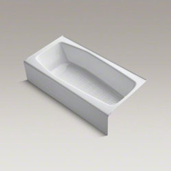 "KOHLER Villager(TM) 60"" x 31"" alcove bath with integral apron and right-hand dra"