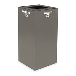 Witt Industries - Witt Industries Geo Cubes 32 Gallon Charcoal Recycling Bin Multicolor - 32GC01-C - Shop for Recycling Bins from Hayneedle.com! The Witt Industries Geo Cube 32 Gallon Charcoal Recycling Bin is perfect for encouraging people to start recycling in the workplace with its compact design and fire safe steel construction. Compact in size this recycling bin comes with a lid to match whatever you want to recycle. Simply make your choice. Each lid is clearly marked with decals to keep other items from being thrown in and getting mixed up with the recyclables. This recycling bin holds up to 32 gallons and measures 15L x 15W x 32H inches.About Witt IndustriesWith its rich and established history in the steel waste receptacle manufacturing industry that dates back to 1887 Witt Industries has been in the forefront with its innovation quality and service. The company's founder George Witt invented and patented the first corrugated galvanized ash can and lid back in 1889 and the company has never looked back. Today Witt Industries is part of the Armor Metal Group and is a woman-owned business.