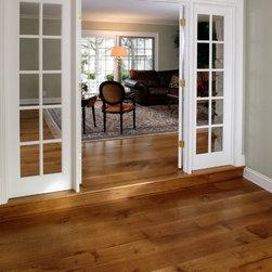 Rift & Quartered White Oak - R&Q Natural Grade Random width wide plank floors.