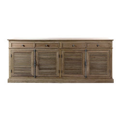 "Brownstone Furniture Belmont Server, 87"" Width - Inspired by European classic designs; the Belmont server is elegant, timeless and supremely comfortable. Featuring traditional craftsmanship, authentic surfaces,and versatile styling."