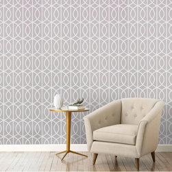 Gate Dove Wallpaper - This is a modern, sophisticated pattern for a home styled in the Hollywood Regency look.