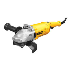 "Black & Decker (U.S.) Inc - Dewalt - Dwe4517 7 In. Large Angle Grinder - 7"" ANGLE GRINDER  4 HP, 8,500 RPM high power motor grinder  Overload protection  Epoxy coated field & armature for long service  Low profile gearcase works great in tight areas  2-position side handle for improved ergonomics  Brush window allows for quick brush replacement  Includes tool, 7"" guard & 2-position handle      DWE4517 7 IN. LARGE ANGLE GRINDER  SIZE:7""  COLOR:DeWalt Yellow"