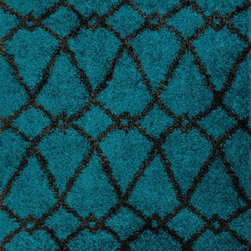 """Loloi - Loloi Cosma HCO-01 (Blue, Charcoal) 5'2"""" x 7'7"""" Rug - This Power Loomed rug would make a great addition to any room in the house. The plush feel and durability of this rug will make it a must for your home. Free Shipping - Quick Delivery - Satisfaction Guaranteed"""