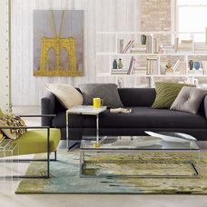movie steel sofa in sofas | CB2