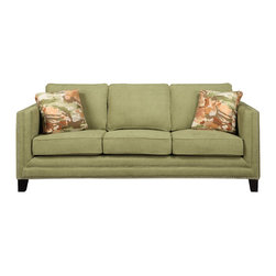 Emerald Home Furnishings - Carlton Sofa by Emerald Home Furnishings in Caprice Waterlily - Carlton Sofa by Emerald Home Furnishings in Caprice Waterlily