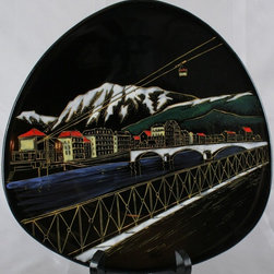EuroLux Home - Consigned Vintage French Mid-Century Modern Plate - Product Details