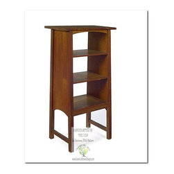 Mission Bookcases - This beautiful Magazine Stand is an identical Historic Reproduction of Gustav Stickley's Magazine Stand designed by Harvey Ellis in 1905.  It is 100% Handcrafted in the United States by our Master-Craftsmen and Guaranteed for Life!