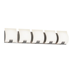 Sonneman - 3885.01 Polished Chrome Aquo 5 Light ADA Compliant Bathroom Bath Bar - Product Lamping Technology: Bulb Base - G9 : A bi pin or 'bipin socket', G9 bulbs have a pin spread of 9 mm and are used mostly in 120V or 230V fixtures with halogen bulbs. Compatible Bulb Types: G9 Bulb base uses primarily a Halogen bulb but is also available as Fluorescent, LED, and Xenon / Krypton.